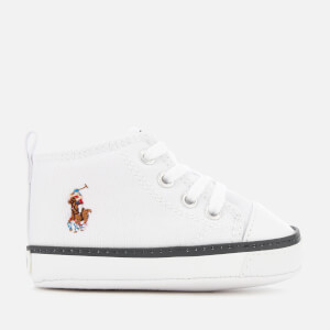 Polo Ralph Lauren Babies' Hamptyn Hi Canvas Trainers - White/Multi