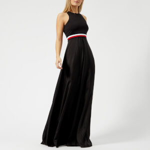 Tommy Hilfiger X GIGI Women's Silk Racer Back Maxi Dress - Black Beauty