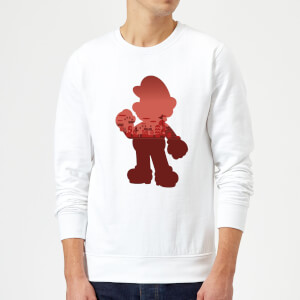 Nintendo Super Mario Mario Silhouette Pullover - Weiß