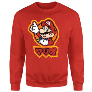 Sweat Homme Super Mario Kanji Mario - Nintendo - Rouge