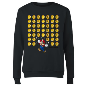 Sweat Femme Super Mario Coin Drop - Nintendo - Noir