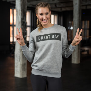 Healthy Madame Cheat Day Sweatshirt - Grau