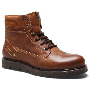 Wrangler Men's Tucson Leather Boots - Cognac