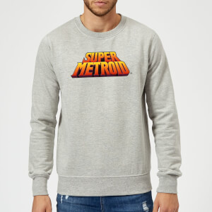 Sweat Homme Super Metroid (Nintendo) Logo Couleur Rétro - Gris