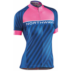 Northwave Woman's Logo 3 Jersey - Pink/Black