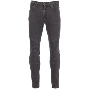 D-Struct Men's Biker Slim Fit Jeans - Grey