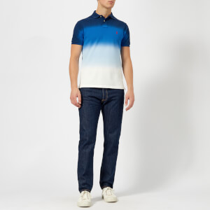 Polo Ralph Lauren Men's Dip Dye Polo Shirt - Navy White: Image 3