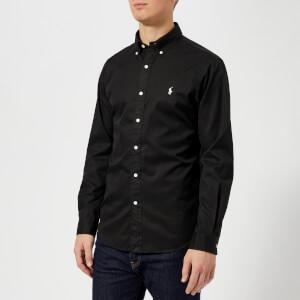 Polo Ralph Lauren Men's Garment Dye Twill Long Sleeve Shirt - Polo Black