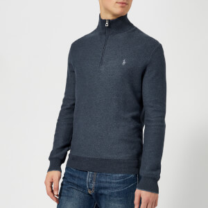 Polo Ralph Lauren Men's Half Zip Pima Sweatshirt - Winter Navy Heather