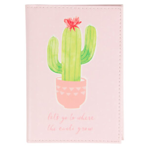 Sass & Belle Pastel Cactus Passport Holder