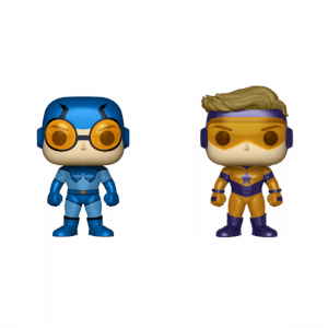 DC Blue Beetle & Booster Gold Metallic 2 Pack EXC Pop! Vinyl Figures