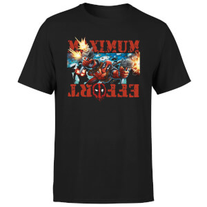T-Shirt Homme Deadpool (Marvel) Maximum Effort - Noir