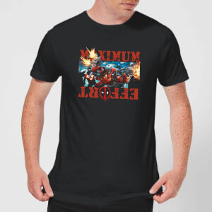 Marvel Deadpool Maximum Effort T-Shirt - Zwart