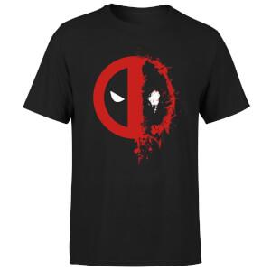 Marvel Deadpool Split Splat Logo T-Shirt - Black