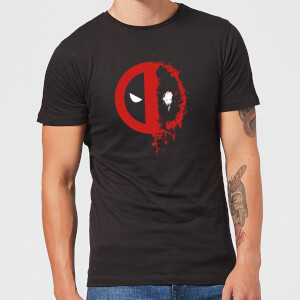 Marvel Deadpool Split Splat Logo T-Shirt - Black
