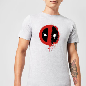 Marvel Deadpool Split Splat Logo T-Shirt - Grau