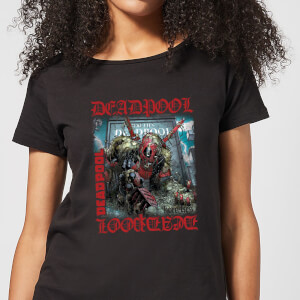 Marvel Deadpool Here Lies Deadpool Women's T-Shirt - Black