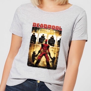 Marvel Deadpool Target Practice Women's T-Shirt - Grey