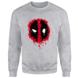 Marvel Deadpool Splat Face Sweatshirt - Grey