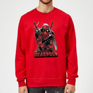 Marvel Deadpool Ready For Action Sweatshirt - Rot