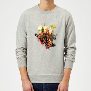 Marvel Deadpool Outta The Way Nerd Sweatshirt - Grey
