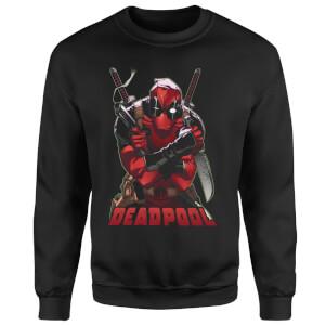 Marvel Deadpool Ready For Action Sweatshirt - Black