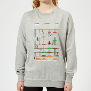 Marvel Deadpool Retro Game Women's Sweatshirt - Grey