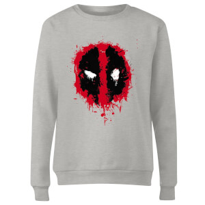 Sweat Femme Deadpool (Marvel) Splat Face - Gris