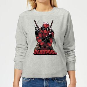 Sweat Femme Deadpool (Marvel) Ready For Action - Gris