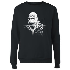 Sweat Femme Avengers Infinity War ( Marvel) Fierce Thanos - Noir