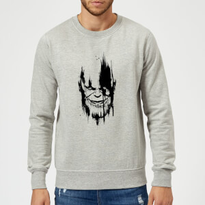 Sweat Homme Avengers Infinity War ( Marvel) Visage Thanos - Gris