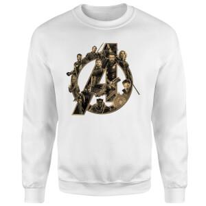 Marvel Avengers Infinity War Avengers Logo Sweatshirt - White