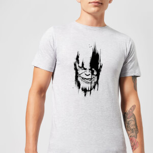 T-Shirt Marvel Avengers Infinity War Thanos Face - Grigio