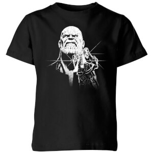 T-Shirt Marvel Avengers Infinity War Fierce Thanos - Nero - Bambini