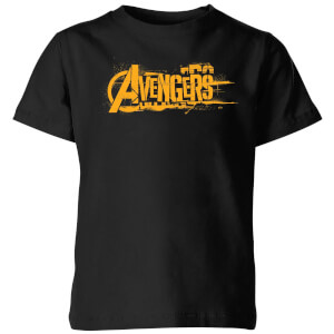 Marvel Avengers Infinity War Orange Logo Kids' T-Shirt - Black