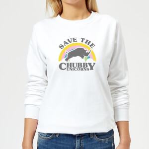Save The Chubby Unicorns Women's Sweatshirt - White