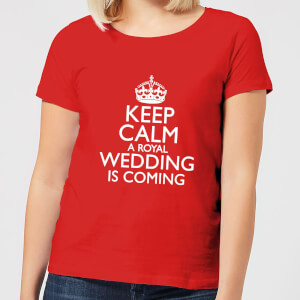 Keep Calm Wedding Coming Women's T-Shirt - Red