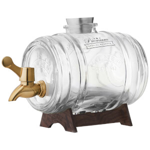 Kilner Barrel Dispenser With Brass Tap 1 Litre