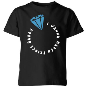 I Wanna Marry Prince Harry Kids T-Shirt - Black