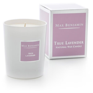 Max Benjamin True Lavender Scented Glass Candle in Gift Box