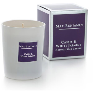 Max Benjamin Cassis and White Jasmine Scented Glass Candle in Gift Box