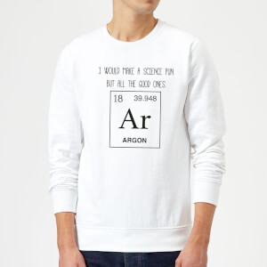 Periodic Pun Sweatshirt - White