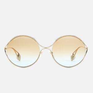 Gucci Women's Round Frame Sunglasses - Gold/Multicolour