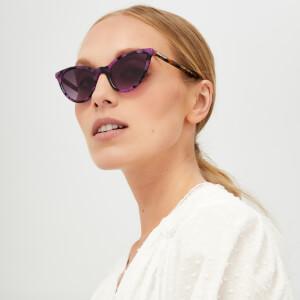 McQ Alexander McQueen Women's Cat-Eye Sunglasses - Havana/Violet