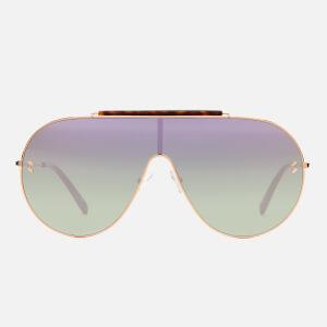 Stella McCartney Women's Large Aviator Sunglasses - Gold/Pink