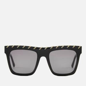 Stella McCartney Women's Square Frame Sunglasses - Black/Grey