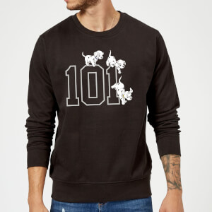Sweat Homme 101 Dalmatiens Disney - Noir