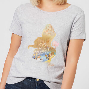 Disney Princess Filled Silhouette Belle Women's T-Shirt - Grey