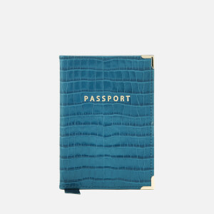 Aspinal of London Women's Passport Cover - Topaz