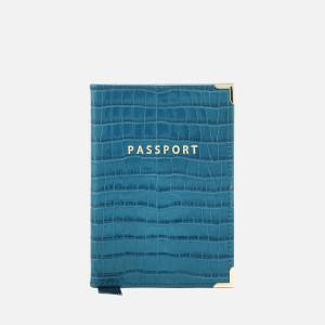 Aspinal of London Women's Passport Cover - Topaz